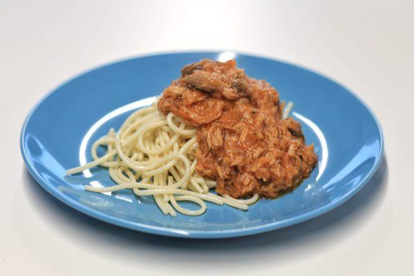 Prato Peixe - Bolonhesa de Atum com Esparguete
