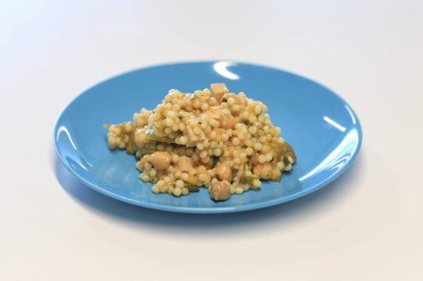 Prato Vegetariano - Cuscus de Tofu com Vegetais