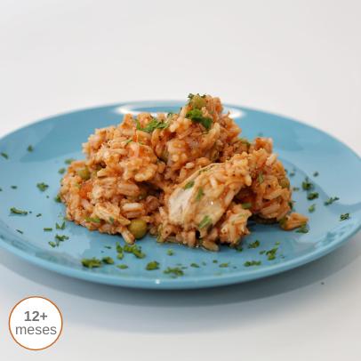 Arroz Colorido de Frango comida para bebé gourmet