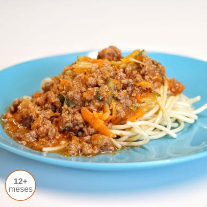 Bolonhesa de Vitela e Legumes com Esparguete