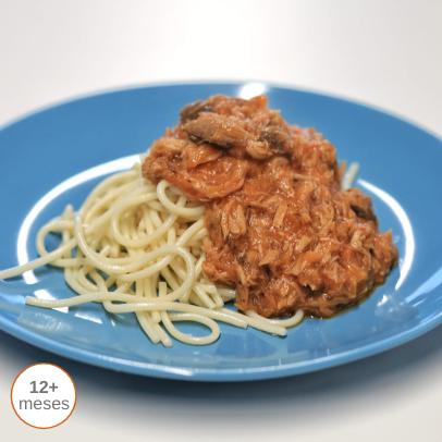 Bolonhesa de atum com Esparguete comida para bebé gourmet