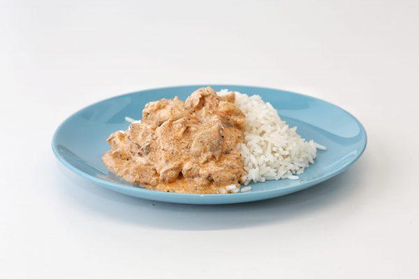 Strogonoff de Frango comida para bebé gourmet
