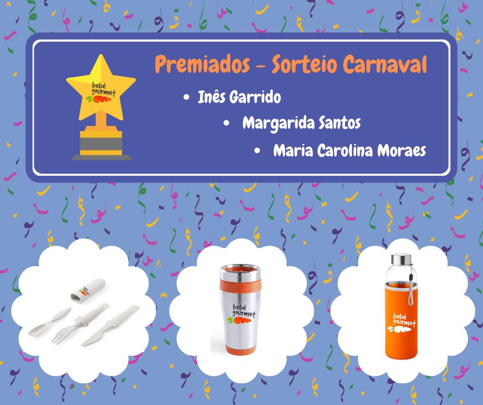 Premiados - sorteio Carnaval